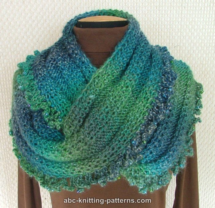 Abc Knitting Patterns Gypsy Cowl With Bead Ruffle