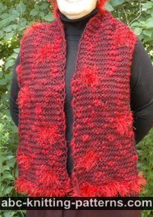 Garter Stitch Scarf with Fun Fur Polka Dots