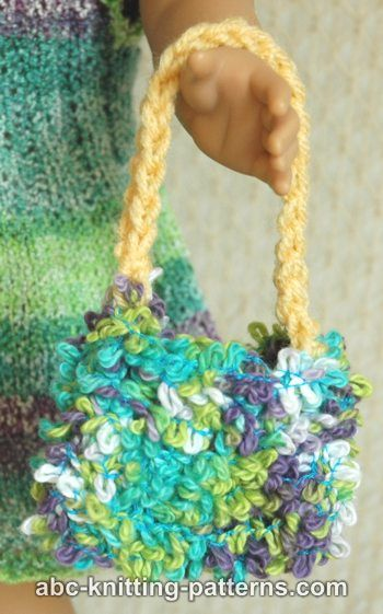 Difficult Knitting Patterns : ABC Knitting Patterns - Doll Fluffy Bag