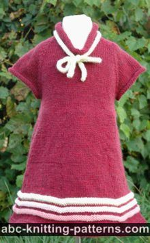Girl's Old-Time Raglan Banded Dress