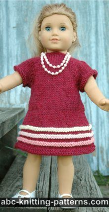 Knitting Patterns For American Doll Clothes : ABC Knitting Patterns - Knit >> Doll Clothes.