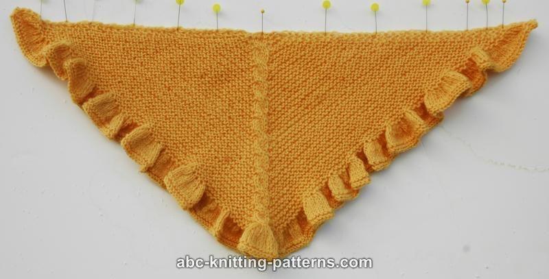 Abc Knitting Patterns American Girl Doll Ruffle Shawl