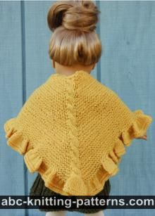 American Girl Doll Ruffle Shawl