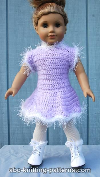 Abc Knitting Patterns American Girl Doll Skating Dress