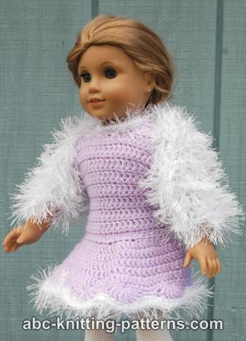 Abc Knitting Patterns American Girl Doll Fur Shrug
