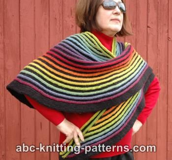 Rainbow Striped Shawl