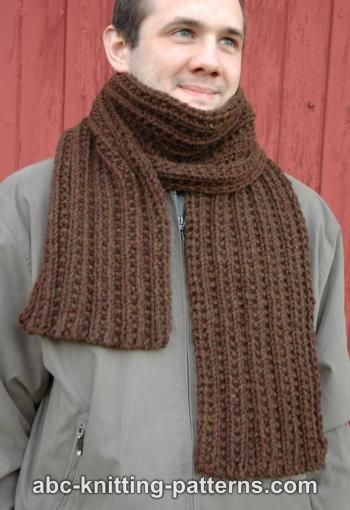 Abc Knitting Patterns Twin Rib Scarf