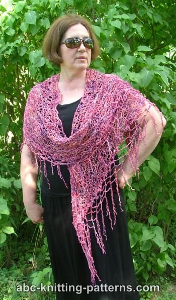 Two-Hour Shawl with Beaded Fringe