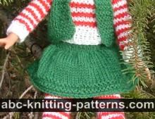 Santa's Elf Outfit for 14 inch Dolls: Skirt