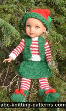 Santa's Elf Outfit for 14 inch Dolls: Vest