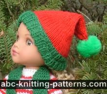 Santa's Elf Outfit for 14 inch Dolls: Hat