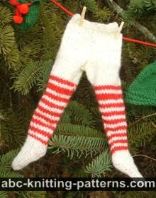 Santa's Elf Outfit for 14 inch Dolls: Tights