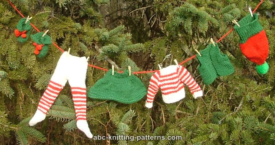 Abc Knitting Patterns Santas Elf Outfit For 14 Inch Dolls Shoes
