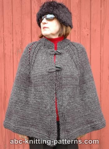 free cape knitting pattern this traditionally styled cape is warm and