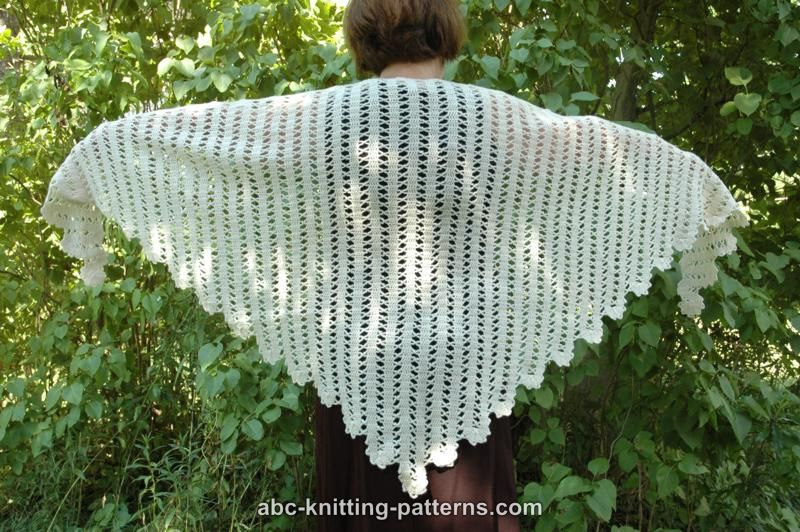 ABC Knitting Patterns - Bruges Lace Shawl