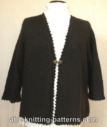 Basic Knitted Cardigan with Crochet Finish