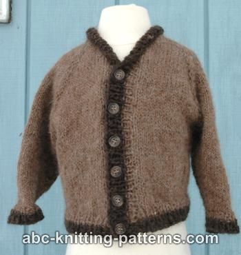 Abc Knitting Patterns Seamless Top Down Raglan Baby Cardigan With