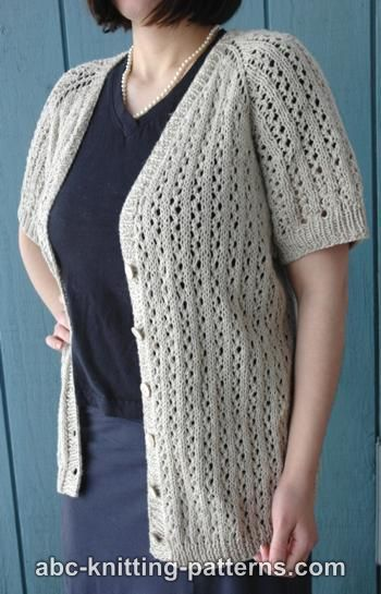 Top-Down Raglan Summer Lace Cardigan