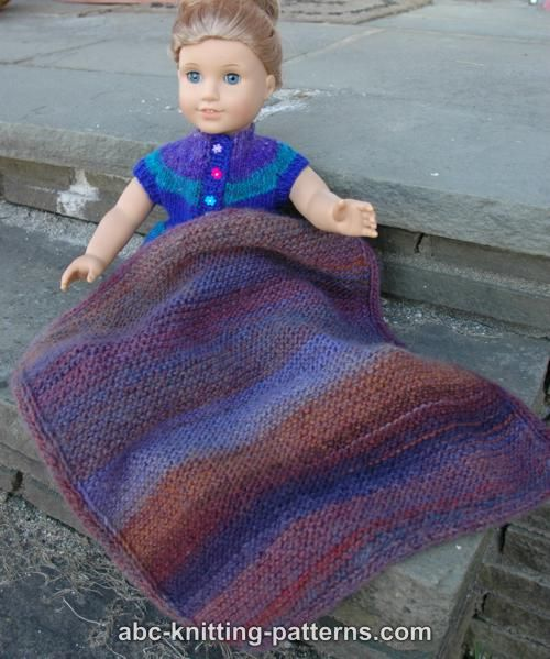 ABC Knitting Patterns - Easy Garter Stitch Blanket with ...