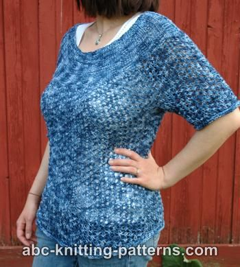 Abc Knitting Patterns Cool Breezes Summer Lace Sweater