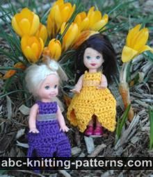 Crocus Sundress for 4-inch Doll
