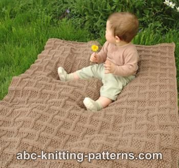 Lattice Baby Blanket