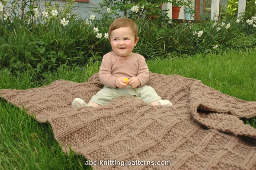 Abc Knitting Patterns Lattice Baby Blanket