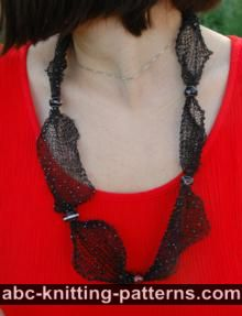 Dew on a Spiderweb Knitted Necklace