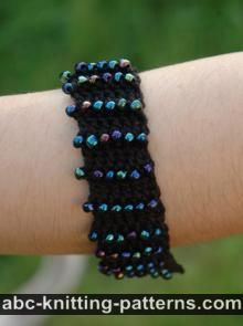 Rainbow of Dusk Beaded Crochet Bracelet