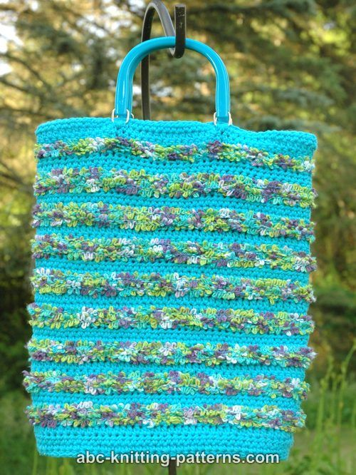 ABC Knitting Patterns - Caribbean Beaches Crochet Tote Bag