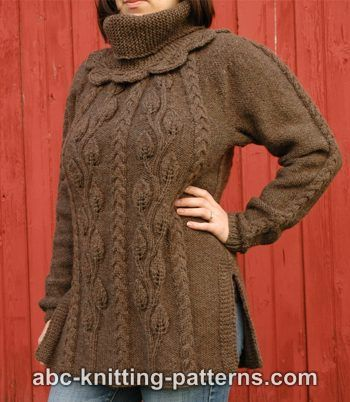 Cables and Leaves Tunic