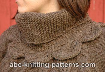 Abc Knitting Patterns : ABC Knitting Patterns - Elaines Leaf Cowl