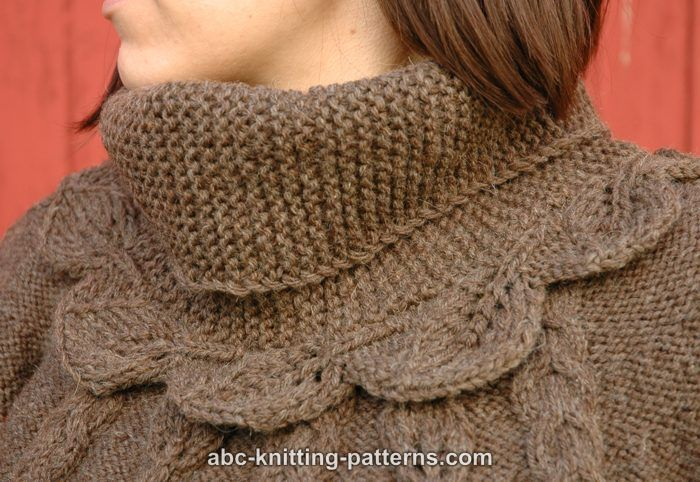 ABC Knitting Patterns - Elaines Leaf Cowl