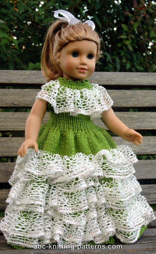 7b93a169d ABC Knitting Patterns - American Girl Doll Southern Belle Dress