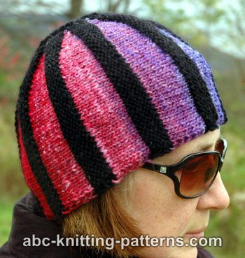 The Cubist Short Row Beanie