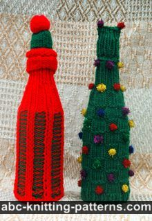 Christmas Wine Bottle Sweaters and Hats