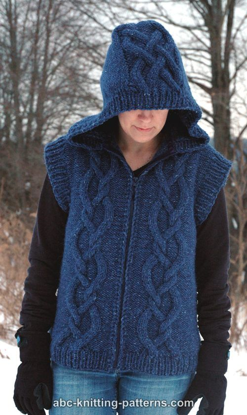 ef072a4a5 ABC Knitting Patterns - Street Chic Hooded Cable Vest