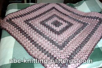 ABC Knitting Patterns - Granny Square Lapghan
