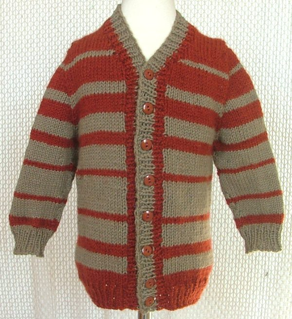 57d86b783b8b5 ABC Knitting Patterns - Child s Top-Down Seamless Cardigan with Set ...