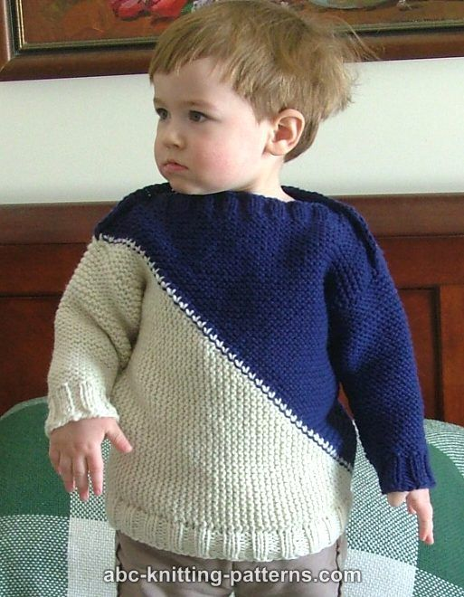 Abc Knitting Patterns Childs Color Block Sweater