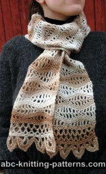 Stormy Sea Lace Scarf