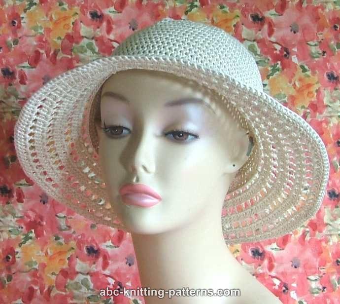 Knit Summer Hat Patterns Free : ABC Knitting Patterns - Summer Breeze Hat