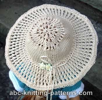 American Girl Doll Summer Breeze Hat (Knit Version)