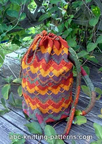 Abc Knitting Patterns Chevron Backpack