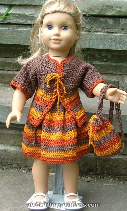 ABC Knitting Patterns - American Girl Doll Back to School Outfit ...