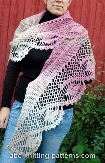 Abc Knitting Patterns Dawn In The Woods Shawl