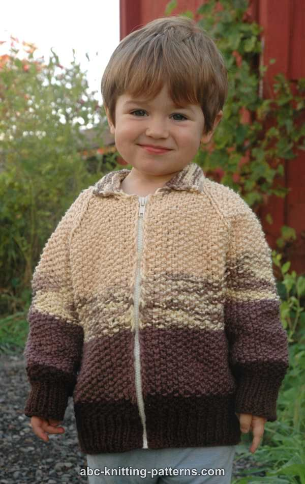 ABC Knitting Patterns - The Dapper Zippered Jacket