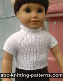 American Girl Doll Seamless Raglan Top