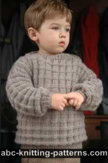 Little Boy's Cuff-to-Cuff Sweater