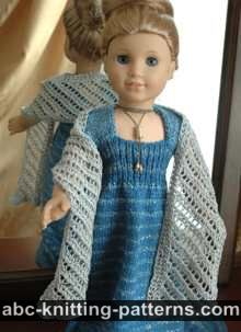 American Girl Doll Lace Wrap/Stole